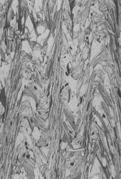 板劈理:发育在细粒的低级变质岩中的透入性面状构造